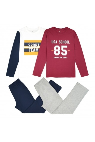 Set 2 pijamale La Redoute Collections GET499 bordo - els