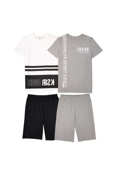 Set 2 pijamale La Redoute Collections GET501 ecru