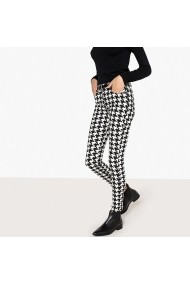 La Redoute Collections Slim Farmer LRD-GFI253-black_white Fekete