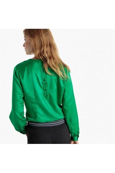 Bluza verde cu guler rotund si nasturi la spate La Redoute Collections GFB095