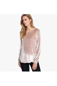 Bluza roz cu guler decoltat rotund si maneci lungi La Redoute Collections GFI052