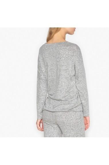 Bluza de pijama La Redoute Collections GEY543 gri