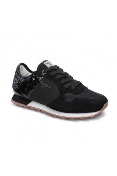Pantofi sport casual PEPE JEANS GFG751 negru