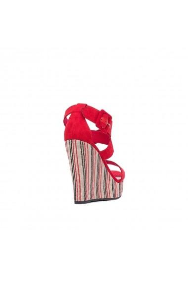 Sandale cu platforma PEPE JEANS GGM786 rosu