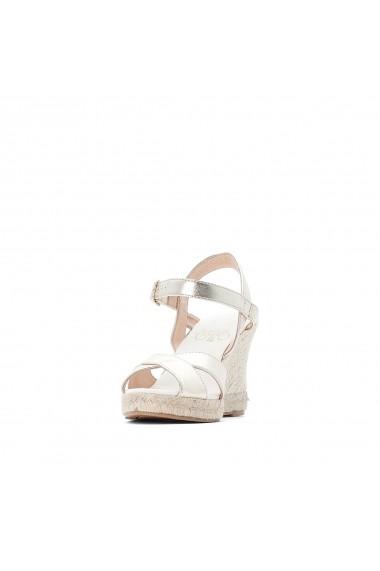 Sandale cu platforma LE TEMPS DES CERISES GGH352 argintiu