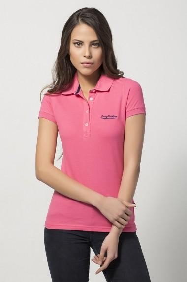 Tricou Polo Jimmy Sanders JSWPL202 PINK roz - els