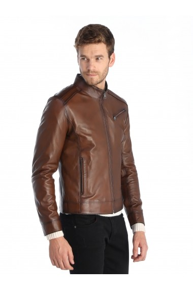 Jacheta din piele Sir Raymond Tailor SI6018654 maro