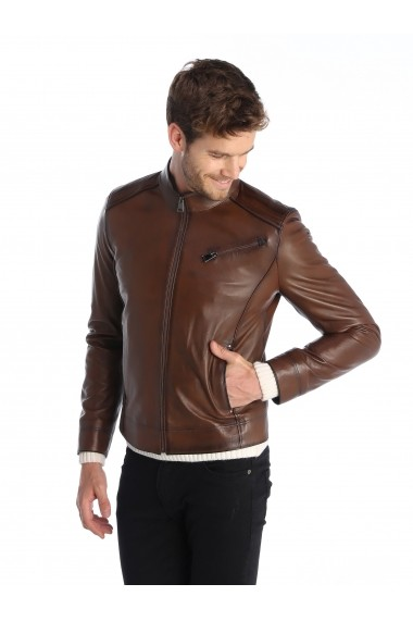 Jacheta din piele Sir Raymond Tailor SI6018654 maro - els