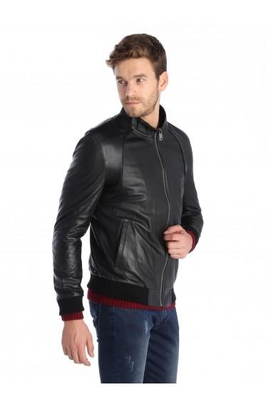 Jacheta din piele Sir Raymond Tailor SI1719439 negru