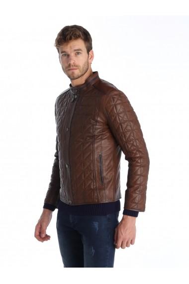 Jacheta din piele Sir Raymond Tailor SI6940620 Maro - els