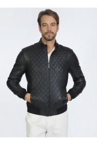 Jacheta din piele Sir Raymond Tailor SI934154 Negru