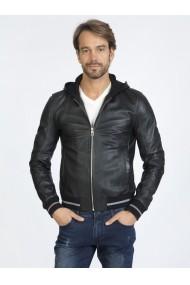 Jacheta din piele Sir Raymond Tailor SI5543140 Negru