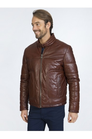 Jacheta din piele Sir Raymond Tailor SI4350256 Maro