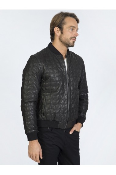 Jacheta din piele Sir Raymond Tailor SI7514883 Negru