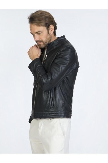 Jacheta din piele Sir Raymond Tailor SI6287701 Negru