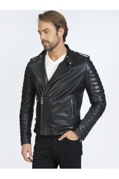 Jacheta din piele Sir Raymond Tailor SI309205 Negru
