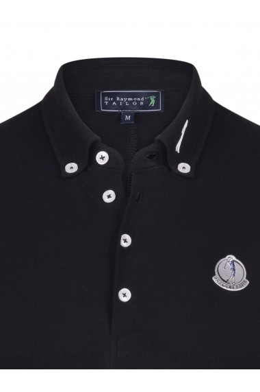 Tricou Polo Sir Raymond Tailor SI6311825 negru