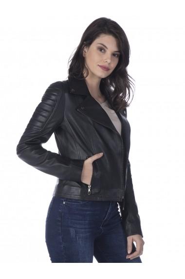 Jacheta din piele Sir Raymond Tailor SI4944347 Negru