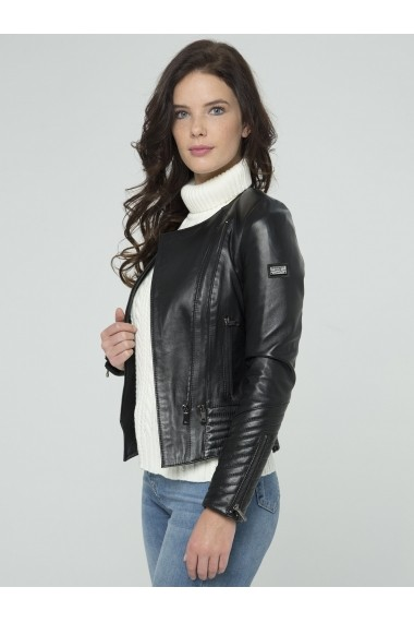 Jacheta din piele Sir Raymond Tailor SI2675050 Negru