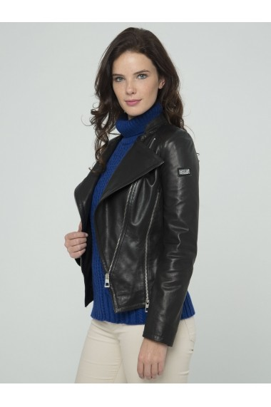 Jacheta din piele Sir Raymond Tailor SI401129 Negru