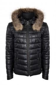 Jacheta din piele IPARELDE E8488K Negru