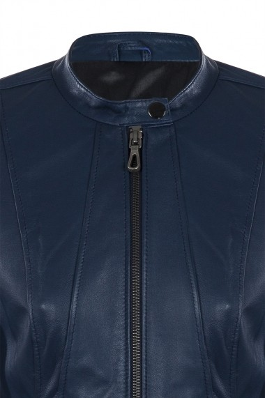 Jacheta din piele IPARELDE CMSB05 Bleumarin