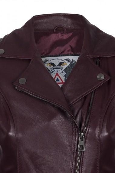 Jacheta din piele IPARELDE CMSB06 Bordo
