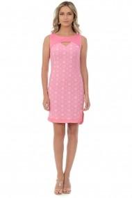 Rochie de seara mini din brocard M40-19 Roz