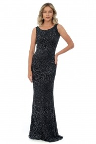 Rochie de seara din lurex M400-32 Negru