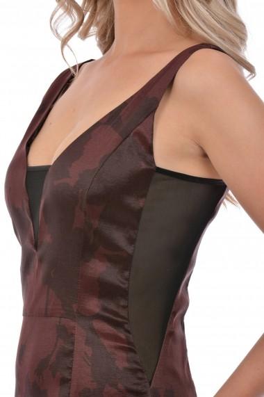 Rochie de seara tafta elastica M600-35 Rosu