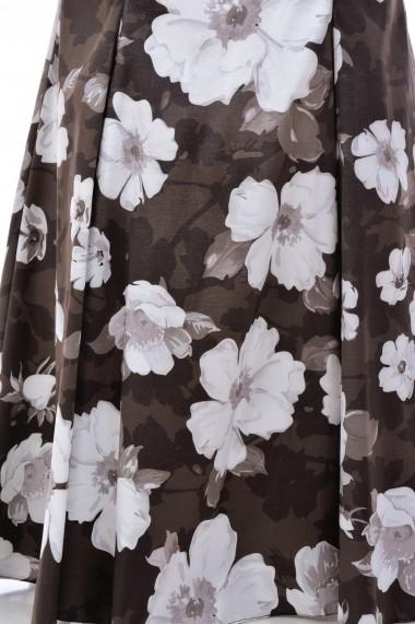 Rochie de seara tafta elastica M700-39 Alb
