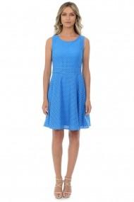Rochie dantela elastica D123 Bleu