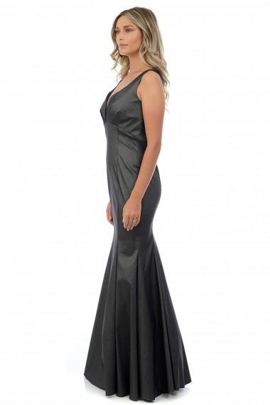 Rochie de seara din tafta elastica M400-37 Gri