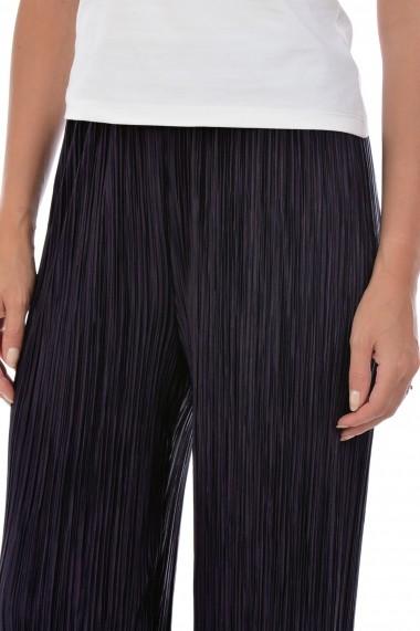 Pantaloni largi din satin plisat P124 Mov