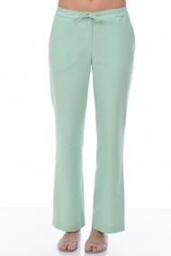 Pantaloni drepti din in P112 Verde