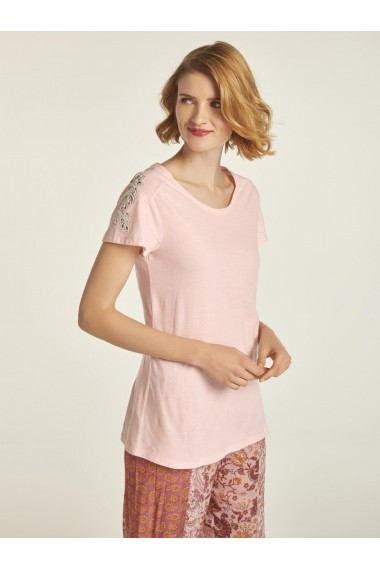 Tricou heine CASUAL 86616530 roz