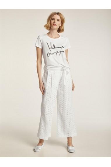 Pantaloni drepti heine CASUAL 10166145 alb