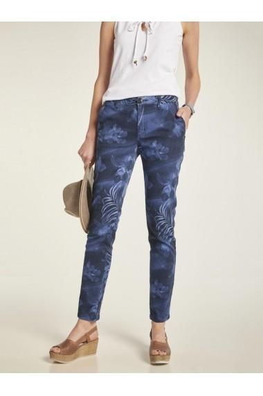 Pantaloni drepti heine CASUAL 77053255 albastru
