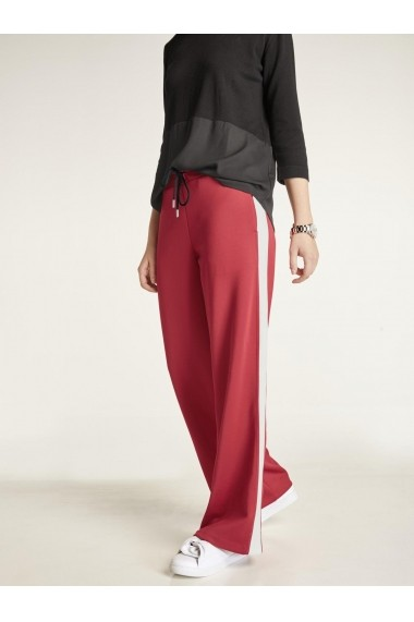 Pantaloni drepti heine CASUAL 82589310 rosu - els