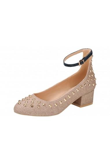 Pantofi cu toc Heine 066481 auriu
