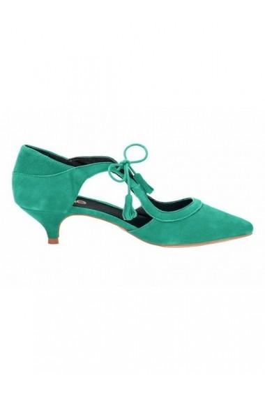 Pantofi cu toc Heine 080131 verde