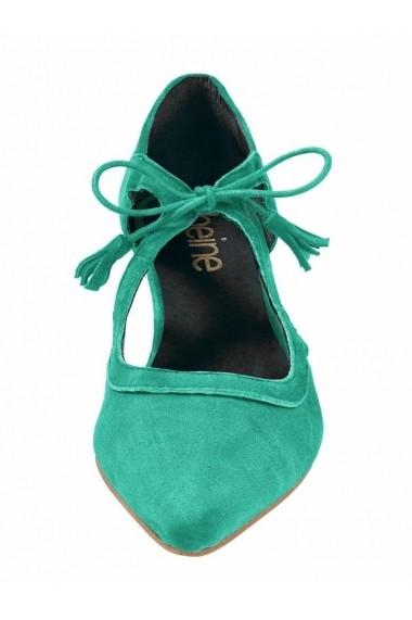 Pantofi cu toc Heine 080131 verde - els