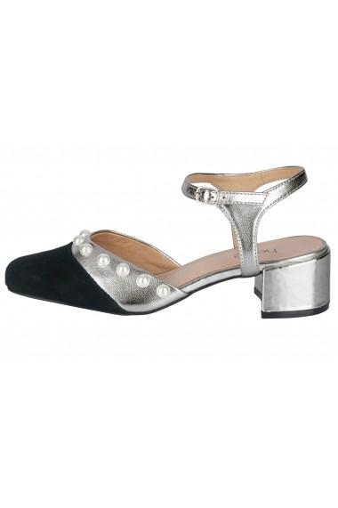 Sandale cu toc Heine 32218438 argintiu