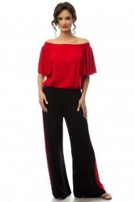 Панталони Colors by Mia CBM-PANTALON RETROCHIC BLACKK RED Черен