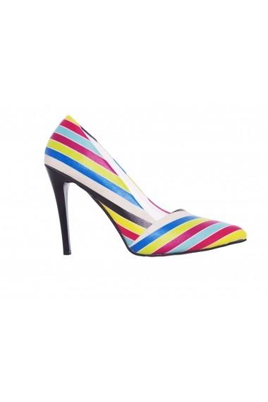 Pantofi cu toc GOBY STL4301 multicolor