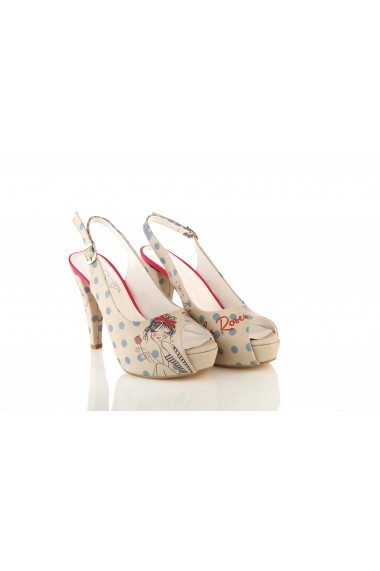 Sandale cu toc GOBY PLT2049 multicolor - els