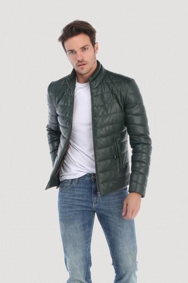 Jacheta din piele Giorgio di Mare GI8528962 Verde
