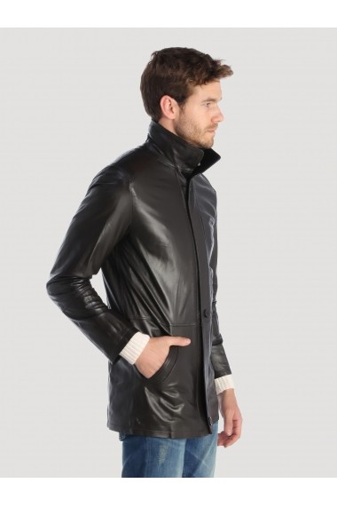 Jacheta din piele Giorgio di Mare GI5174505 Negru