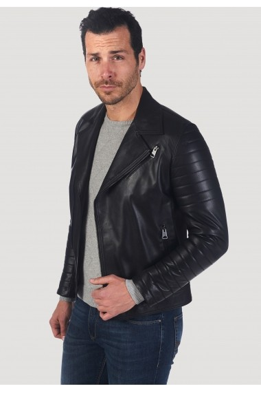 Jacheta din piele Giorgio di Mare GI5233313 Negru