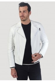 Jacheta din piele Giorgio Di Mare GI5178295 Alb